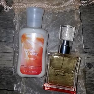 bundle of bath and body works butterfly flower